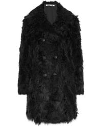 McQ - Double-breasted Faux Fur Coat - Lyst