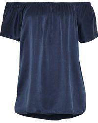 Joie - Asymmetric Striped Silk-satin Twill Mini Skirt - Lyst
