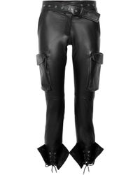 Monse - Lace-up Leather Skinny Pants - Lyst