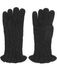 Autumn Cashmere - Ruffle-trimmed Cable-knit Gloves - Lyst