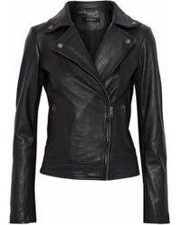 Muubaa - Sabik Leather Biker Jacket - Lyst