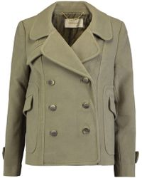 Zimmermann - Mischief Double-breasted Wool-blend Coat - Lyst