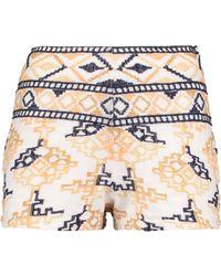 Antik Batik - Embroidered Cotton-blend Shorts - Lyst