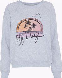 Rebecca Minkoff - Printed Cotton-blend Fleece Sweatshirt - Lyst