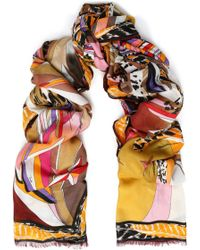 Emilio Pucci - Printed Modal And Cashmere-blend Scarf - Lyst