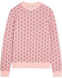 Marni - Metallic Jacquard-knit Jumper Baby Pink - Lyst