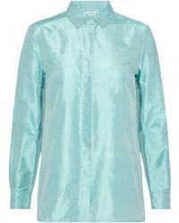 Max Mara - Silk-shantung Shirt - Lyst