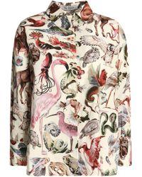 Valentino - Printed Cotton-poplin Shirt - Lyst