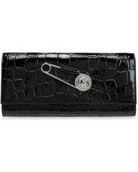 Versus - Embellished Croc-effect Leather Clutch - Lyst