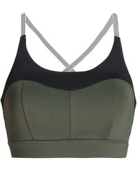 Purity Active - Two-tone Tech-jersey Sports Bra - Lyst
