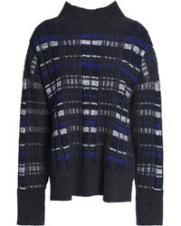 3.1 Phillip Lim - Checked Ribbed-knit Turtleneck Sweater - Lyst