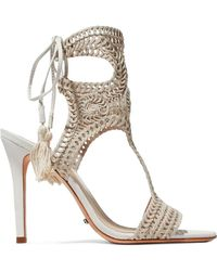 Schutz - Veca Crocheted Sandals - Lyst