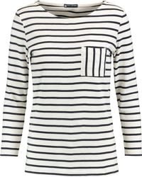 Petit Bateau | Striped Cotton-jersey Top | Lyst