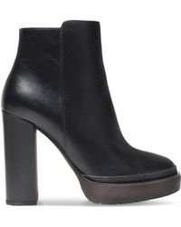 Brunello Cucinelli - Embellished Leather Ankle Boots - Lyst