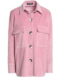 House of Holland - Woman Cotton-chenille Jacket Baby Pink - Lyst
