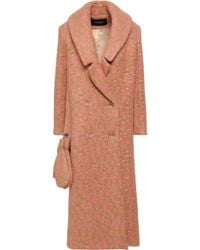 Paper London - Woman Rainbow Leopard-print Felt Coat Camel - Lyst