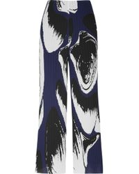Solace London - Claudia Trousers Navy Print - Lyst