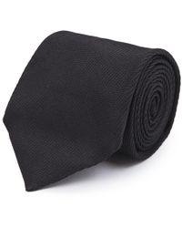 Cifonelli - Dark Brown Silk Tie - Lyst