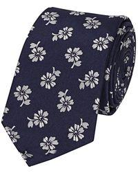 Fumagalli 1891 - Navy Blue Silk Flower Patterned Tie - Lyst