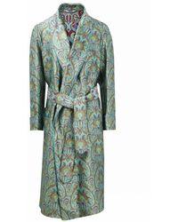 f890a5ce11 New   Lingwood - Grenn Art Nouveau Unlined Silk Dressing Gown - Lyst