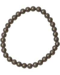 Jan Leslie - Grey Matte Hematite Bead Elasticated Bracelet - Lyst
