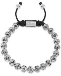 Nialaya - Beaded Bracelet With Indian Silver Cairo Beads - Lyst