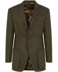 New & Lingwood - Olive Wodhull Single-breasted Jacket - Lyst