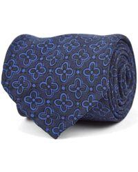 Rubinacci - Navy Large Floral Silk Tie - Lyst
