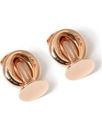 Budd Shirtmakers Rose Gold-plated Sterling Silver Kisbee Cufflinks