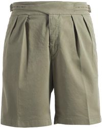 Rubinacci - Olive Manny Cotton Shorts - Lyst