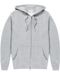 Sunspel - Grey Cotton Hoody - Lyst