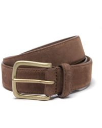 Anderson & Sheppard - Light Brown Suede Belt - Lyst