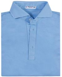Naked Clothing - Sky Blue Short Sleeve Pique Cotton Polo Shirt - Lyst