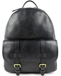 Frank Clegg - Black Hampton Zipper Leather Backpack - Lyst