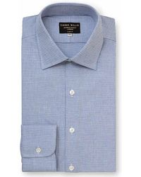 Emma Willis - Sky Blue Houndstooth Brushed Cotton Shirt - Lyst