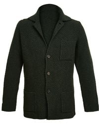 Anderson & Sheppard - Dark Green Single Breasted Merino And Cashmere Jacket - Lyst