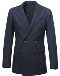 Ring Jacket - Navy Calm Twist Double-breasted Wool Suit - Lyst