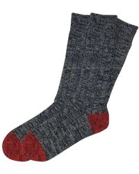 The Workers Club - Black And Red Chunky Cotton Socks 2-pack - Lyst