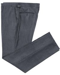 Chester Barrie - Blue Worsted Wool Trousers - Lyst