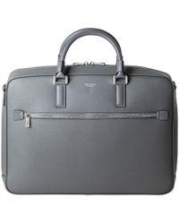 Serapian - Asphalt Grey Evoluzione Calf Leather Slim Briefcase - Lyst
