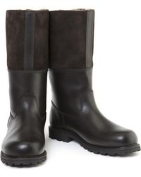 Ludwig Reiter - Dark Brown Maronibrater Leather And Suede Alpine Boots - Lyst