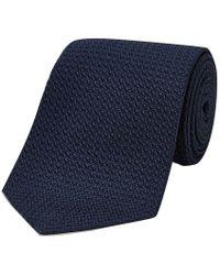 Turnbull & Asser - Navy Grenadine Silk Tie - Lyst