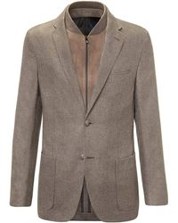 Corneliani - Brown Unlined Silk And Cashmere Id Jacket - Lyst