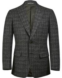 Chester Barrie - Grey Marl Textured Single Breasted Jacket - Lyst