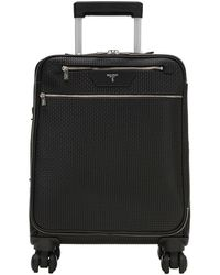 Serapian - Black Stepan Spread Cotton Four-wheel Cabin Trolley - Lyst