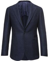 Ring Jacket - Blue Birdseye Wool Balloon Jacket - Lyst