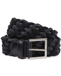 Adriano Meneghetti - Black Saffiano Leather Belt - Lyst