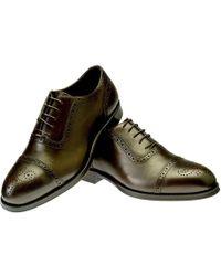 Belsire - Brown Gerardo Leather Oxford Brogues - Lyst