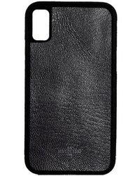 Huitcinq 1988 - Black Goatskin Leather Iphone X Case - Lyst