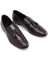 Cifonelli - Brown Kangaroo Leather Tassel Loafer - Lyst